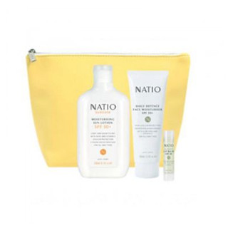 NATIO 娜迪奥 防晒保湿套装(Natio Defend 防晒霜+日常抵御保湿防晒+防晒唇膏)