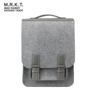 MRKT马克兔凯德利克休闲简约大容量背包时尚个性男女学院风背包