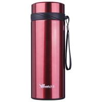 华亚 WAYA 不锈钢保温杯 大容量带过滤网便携水杯HX-850-5S 商务车载休闲杯红色 850ml