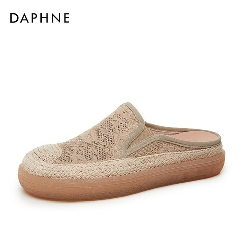 DAPHNE 达芙妮 202003126D 女士半包镂空网面渔夫鞋