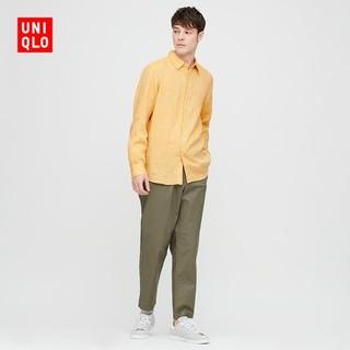 UNIQLO 优衣库 427455 男士法国麻长袖衬衫