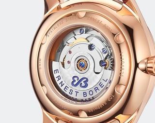 依波路(ERNEST BOREL) 瑞士腕表 蝴蝶花系列 贝母镶钻表盘 机械手表/女表/瑞表 LGR6002-422RD