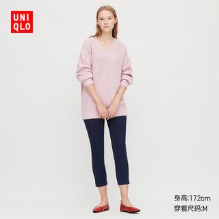 女装 高弹力牛仔紧身七分裤(水洗产品) 424884 优衣库UNIQLO