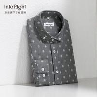 INTERIGHT 5941019 男士提花长袖衬衫