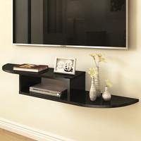 美达斯 机顶盒架 路由器架 墙上电视柜置物架挂架搁板壁挂木质 黑色110cm 12535