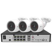 海康威视萤石200万POE监控设备套装X5S+C3T 8路1T硬盘 3台1080P家用商用高清摄像头系统监控器