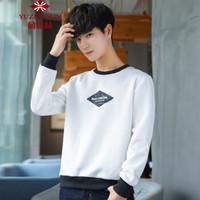 俞兆林(YUZHAOLIN)卫衣 男士时尚圆领简约字母长袖卫衣A301-302-Y91白色3XL
