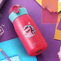 华亚 WAYA 水润内外304不锈钢真空运动瓶儿童保温杯 350ml 玫红色HD21-350