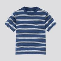 UNIQLO 优衣库 儿童竹节纱条纹圆领T恤