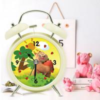 TXL闹钟 儿童创意动漫熊熊乐园熊二 夜灯个性4寸打铃钟
