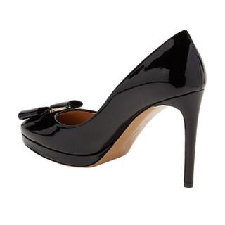 Salvatore Ferragamo 菲拉格慕 VARA 经典款女士黑色牛皮革高跟鞋 0694650_1D _ 80