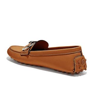 Salvatore Ferragamo 菲拉格慕 女士棕色牛皮革驾车鞋 0704649_1D _ 55