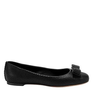 Salvatore Ferragamo 菲拉格慕 女士黑色羊皮革芭蕾平底鞋 0706313_1D _ 70