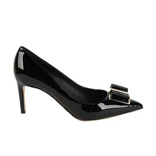 Salvatore Ferragamo 菲拉格慕 经典款女士黑色牛皮革高跟鞋 0704665_1D _ 60