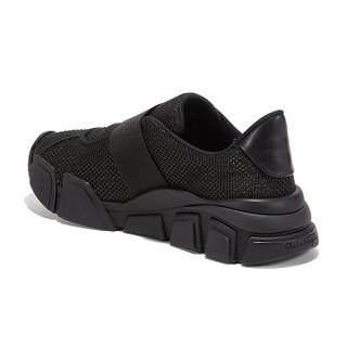Salvatore Ferragamo 菲拉格慕 经典款女士黑色织物/牛皮革运动鞋 0707957_1C _ 80