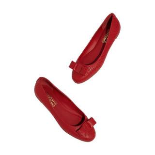 Salvatore Ferragamo 菲拉格慕 女士红色羊皮革芭蕾平底鞋 0705176_1D _ 75