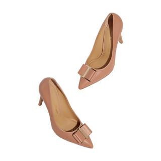 Salvatore Ferragamo 菲拉格慕 经典款女士淡粉红色羊皮革高跟鞋 0705778_1D _ 55
