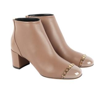 Salvatore Ferragamo 菲拉格慕 经典款女士米色牛皮革短靴 0715054_1D _ 55