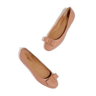 Salvatore Ferragamo 菲拉格慕 女士裸粉色羊皮革芭蕾平底鞋 0705177_1D _ 75