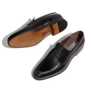 Salvatore Ferragamo 菲拉格慕 经典款男士黑色牛皮革便鞋 0707811_3E _ 80