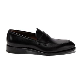 Salvatore Ferragamo 菲拉格慕 经典款男士黑色牛皮革便鞋 0707811_3E _ 90