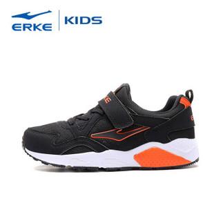 鸿星尔克(ERKE)童鞋男童大童秋冬慢跑鞋儿童运动鞋 63119320087 正黑/橙红色 31码