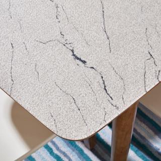 全友家居 餐桌椅北欧可伸缩钢化玻璃餐桌椅子餐厅120731 一桌四椅