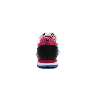 BALLY 巴利 女士白色蓝色多色皮质系带运动鞋 GAVINIA M F 07 6226128 2/35码