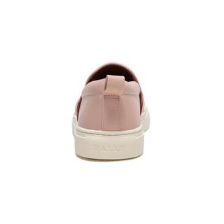 BALLY 巴利 女士粉色红米条纹皮质休闲鞋 HENRIKA-NEW-BALLY/09 6226142 5/38码