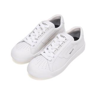 BALLY 巴利 女士白色皮质系带运动鞋 NEW COMPETITION W 17 6226154 4.5/37.5码