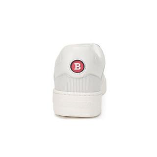 BALLY 巴利 男士白色皮质系带运动鞋 KUBA T 108 6228507 7.5/41.5码