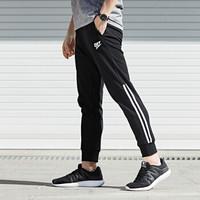 乔丹 男装运动裤透气针织长裤男 XKL2382338 黑色 XL