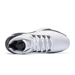 乔丹 篮球鞋男高帮减震皮革面男鞋运动鞋 XM4590116 白色/黑色 41