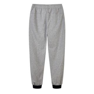 乔丹 运动裤女针织裤运动长裤女收脚休闲卫裤裤子 XKL3292221 灰花灰 3XL/185