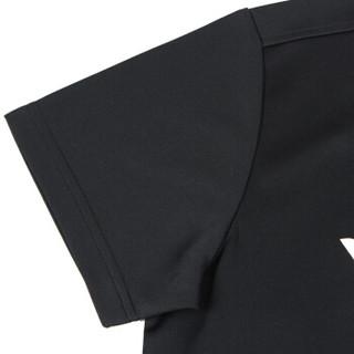 威克多(Victor) 运动休闲T恤男款透气速干羽毛球服 T-80028C 黑色 M码