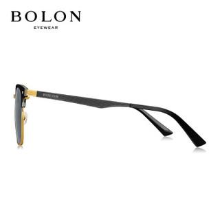 暴龙BOLON太阳镜男款19年偏光太阳眼镜D形框墨镜BL6075C10