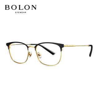 暴龙BOLON光学镜近视眼镜架女款方形光学架BJ7079+折射率1.67(建议800度以内)