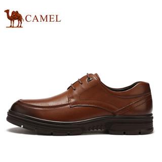骆驼(CAMEL) 男鞋 柔软光滑舒适软底正装皮鞋 A932043490 烟草  41