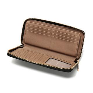 迈克.科尔斯(MICHAEL KORS)MK女包 MERCER系列粗纹皮革手拿包 黑色 32F6GM9E9L BLACK