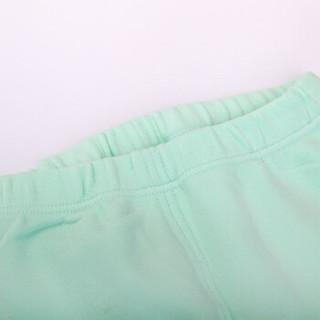 俞兆林 YUZHAOLIN 儿童内衣套装 精梳热力棉厚款打底秋衣秋裤M210348绿色100码