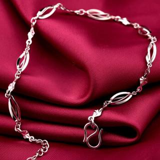 珂兰 PT950铂金 镂空显大 女款铂金手链 旋转链 约3.2-3.4g KLSW021682