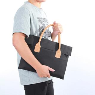 百变猫(baibianmao)简幕 电脑包通用苹果联想微软小米手提包时尚商务休闲笔记本内胆包休闲包15.6英寸 黑色
