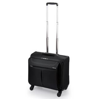 HANKE 汉客 801602 黑色16英寸万向轮版拉杆箱男女商务电脑旅行箱 防泼水耐磨行李箱子登机箱