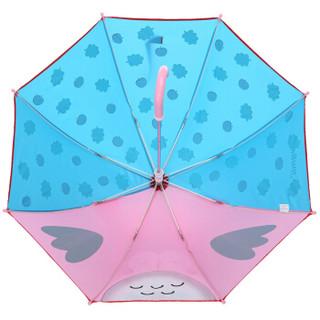 hugmii儿童雨伞半自动卡通可爱小学生雨伞 猫头鹰