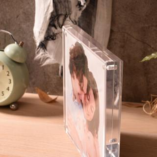 亮丽(SPLENDID)亚克力相框摆台7英寸  水晶相框画框