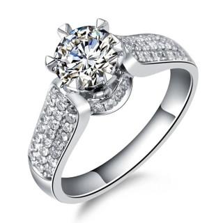一搏千金(YBQJ)BG007 18K金共130分IJ色求订结婚 钻石戒指 钻戒 钻石女戒