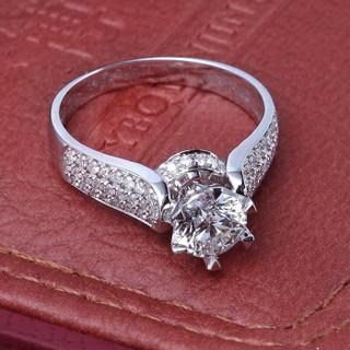一搏千金(YBQJ)BG007 18K金共90分FG色求订结婚 钻石戒指 钻戒 钻石女戒