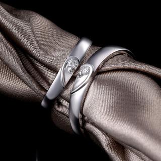 一搏千金(YBQJ)EG009 PT950铂金男5分女5分 钻石对戒 钻戒 结婚戒指 钻石婚戒 订婚戒