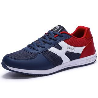 骆驼(CAMEL)运动鞋男跑步鞋休闲透气减震跑鞋子A712363215深蓝/红39