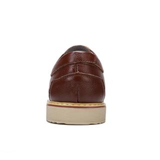 骆驼牌 男士商务休闲皮鞋时尚新潮柔软舒适系带 W712266810 棕色 41/255码